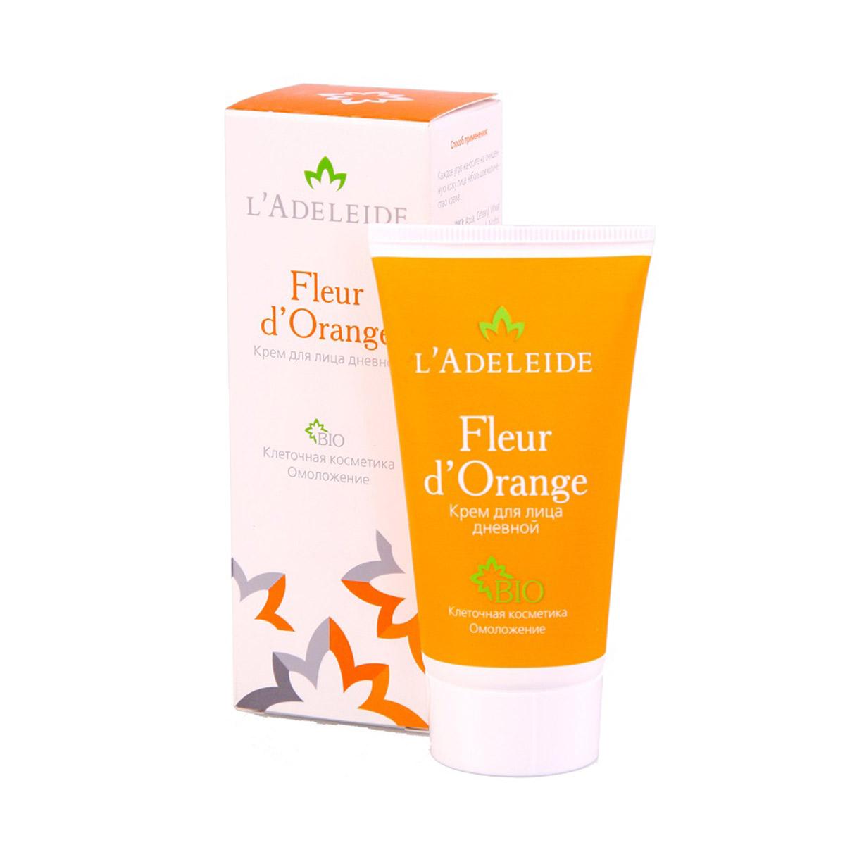 LAdeleide Крем дневной для лица Fleur dOrange, 50 млКС-422Клеточный комплекс для лица Fleur d'Orange – это косметика последнего поколения, разработанная против первых признаков старения. Разглаживает морщины, моделирует овал лица, увлажняет и укрепляет кожу. Активные компоненты крема на 100% натурального, растительного происхождения. В основе эффективности крема – клеточный комплекс MATRIXYL Synthe 6, гиалуроновая кислота и натуральные экстракты (апельсин, лимон, мандарин, яблоко, земляника и сахарный тростник). Активные компоненты: Matrixyl Synthe 6 - клеточный комплекс, заполняющий морщины изнутри, способствует устранению мимических морщин, стимулируя восстановление дермы. Гиалуроновая кислота 100% натурального происхождения Cristalhyal - увлажняющий компонент, предупреждает преждевременное старение. Xyliance обладает увлажняющими и восстанавливающими свойствами. Масло виноградной косточки оказывает питательное и омолаживающее действие. Cetiol Sensoft придает коже бархатистость. Д-Пантенол обладает регенерирующим, увлажняющим и разглаживающим действием. Аллантоин увлажняет, успокаивает, стимулирует образование здоровых тканей.