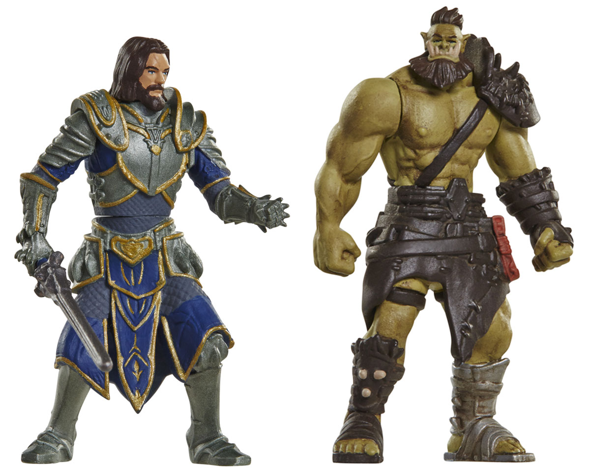 Warcraft. Набор фигурок Лотар и Воин Орды warcraft набор фигурок лотар чернорук грифон и волк 4 шт