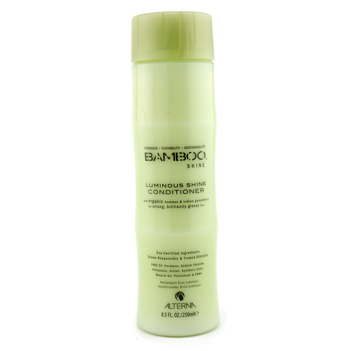 Alterna Кондиционер для сияния и блеска волос Bamboo Luminous Shine Conditioner - 250 мл46110Кондиционер для блеска волос Alterna Bamboo Luminous Shine Conditioner с экстрактом бамбука наполняет каждую прядь ваших волос необходимыми питательными и жизненно важными элементами. Кондиционер отлично увлажняет волосы, придает им здоровый вид и насыщает их ослепительным блеском.После регулярного применения кондиционера с экстрактом бамбука, ваши волосы станут мягкими и шелковистыми, приобретут здоровый блеск и будут насыщены необходимыми питательными и увлажняющими элементами.