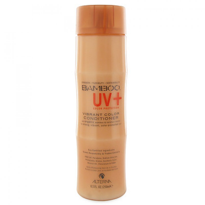 Alterna Кондиционер для ухода за цветом Bamboo Color Care UV+ Vibrant Color Conditioner - 250 мл47110Устойчивая к вымыванию технология Color Hold UV обеспечивает высокий уровень защиты цвета от воздействия солнечных лучей спектра UVA и UVB, дневного света и искусственного освещения, а также от разрушительного воздействия термических средств для укладки волос. Alterna Bamboo Color care UV Vibrant Color Conditioner бережно ухаживает за окрашенными волосами, уберегает их от вредного воздействия ультрафиолетовых лучей, повышает эластичность волос и придает им ослепительный блеск. Также он защищает волосы от воздействия свободных радикалов. Оказывает укрепляющее и кондиционирующее действие на нормальные и поврежденные волосы. 3ащищает их от стресса и внешних агрессивных факторов. Предупреждает осаждение микрочастиц на ствол волоса и препятствует воздействию загрязненной окружающей среды.Результат: Кондиционер придает волосам шелковистость и закладывает основу для сильных и здоровых волос. Предотвращает вымывание цвета в процессе ухода за волосами и сохраняет насыщенность оттенка. Обладает наивысшей степенью по защите окрашенных волос. Повышает эластичность волос и придает оттенку окрашенных волос яркость и многомерное сияние.