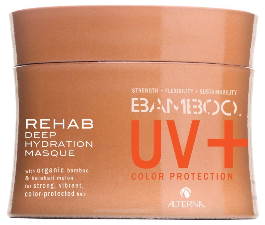 Alterna Восстанавливающая маска-уход за цветом Bamboo Color Care UV+ Rehab Deep Hydration Masque - 150 мл47210Глубоко увлажняющая маска для окрашенных волос с экстрактом бамбука Alterna Bamboo Color care UV Rehab Deep Hydration Masque совмещает в себе органический экстракт бамбука, который моментально усиливает внутреннюю силу и гибкость волос. Маска подходит для всех типов волос, но особенно рекомендуется для окрашенных волос. Ее можно использовать после процедуры по обычному выпрямлению волос, кератиновому выпрямлению волос и после перманентной завивки.Результат: Обеспечивает волосам защиту от ультрафиолетовых лучей спектра UVA/UVB. Маска повышает внутреннюю силу волос, делая их более сильными и здоровыми. Интенсивно питает структуру окрашенных и сухих волос. Создает для волос натуральный барьер, который защищает негативного воздействия окружающей среды. Повышает эластичность волос и придает оттенку окрашенных волос яркость и многомерное сияние. Предотвращает вымывание цвета в процессе ухода за волосами и сохраняет насыщенность оттенка.