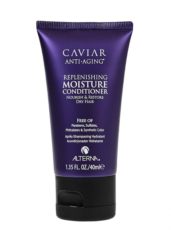 "Alterna Увлажняющий кондиционер c морским шелком Caviar Anti-Aging Replenishing Moisture Conditioner - 40 мл alterna спрей ""абсолютная термозащита"" caviar anti aging perfect iron spray 122ml"