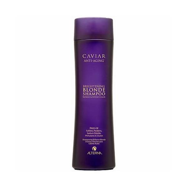 Alterna Шампунь c морским шелком для cветлых волос Caviar Anti-Aging Seasilk Blonde Shampoo - 250 мл60517В состав продукта входят экстракты водорослей и черной икры, которые обеспечивают надежную защиту цвета и препятствуют процессам старения. Шампунь для светлых волос Альтерна содержит витамины и минералы, которые насыщают волосы здоровьем и силой. Результат: После применения шампуня волосы становятся эластичными и шелковистыми, они легко расчесываются и блестят.