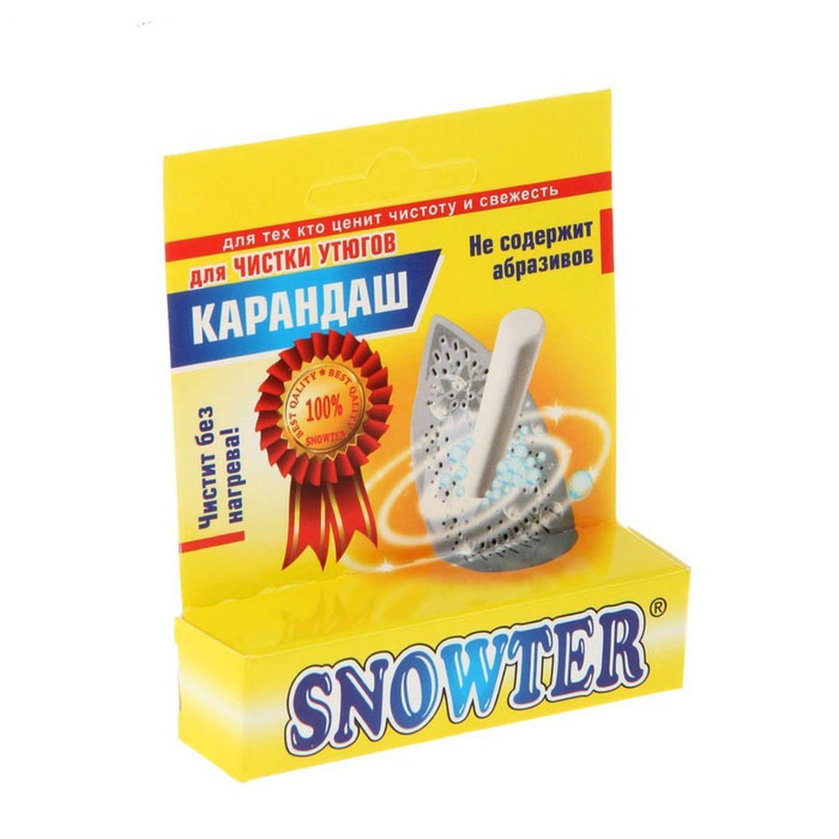 Карандаш для чистки утюгов без нагрева Snowter, 35 г4602083001453Карандаш для чистки утюгов Snowter, без нагрева, 35 г - эффективное средство для очистки подошвы утюга от налётов крахмала, аппретуры и различных волокон. Не содержит абразивов, способных поцарапать поверхность, в том числе и тефлоновую. Улучшает скольжение по ткани. Способ применения: Для очистки подошвы утюг не нужно нагревать. Смочите подошву утюга влажной губкой, затем обработайте карандашом до образования на поверхности белой пены. Подождите 10-15 минут и удалите её влажной губкой. Если на подошве утюга имеются сильные загрязнения, то обработку необходимо повторить и увеличить время воздействия средства. На утюгах с функцией отпаривания отверстия для выхода пара можно прочистить путём нагрева утюга и выпуска из этих отверстий пара.