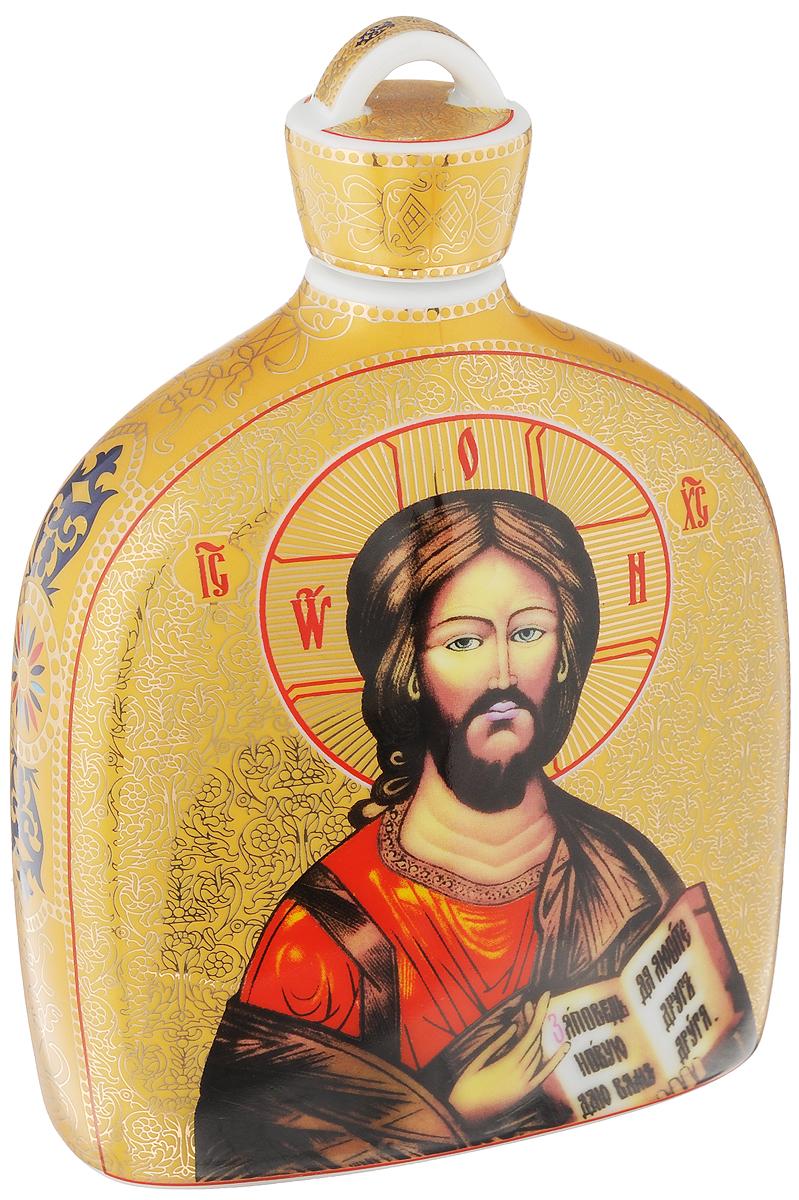 Сосуд для святой воды Elan Gallery Иисус Христос, 500 мл503700Сосуд Elan Gallery Иисус Христос, изготовленный из высококачественной керамики,предназначен для хранения святой воды. Изделиесочетает в себе элегантный дизайн и функциональность. Такой сосуд станет отличным подаркомвашим друзьям и близким!Изделие упаковано в подарочную коробку с атласной подложкой. Не рекомендуется применять абразивные моющие средства. Не использовать в микроволновой печи.Диаметр (по верхнему краю): 2 см.Высота (с учетом крышки): 17,5 см.