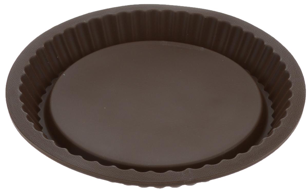 Форма для выпечки Tescoma Delicia, цвет: коричневый, диаметр 27 см. 629252629252_коричневыйКруглая форма с волнистым краем Tescoma Delicia выполнена из высококачественного силикона. Изделие отлично подходит для приготовления бисквитов, пирогов, сладких и соленых блюд. Изделие выдерживает температуру от -40°С до + 230°С. Форма подходит для использования в микроволновых, газовых и электрических печах. Можно мыть в посудомоечной машине. Диаметр формы: 24 см. Высота стенки: 3,5 см.