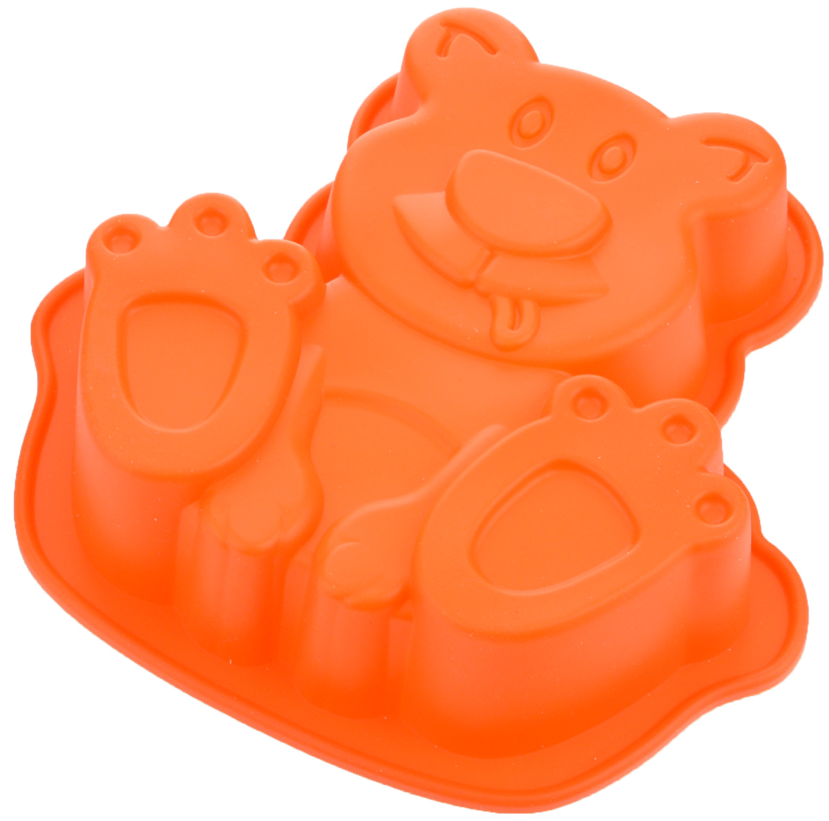 Форма для выпечки Mayer & Boch Собачка, цвет: оранжевый, 20,5 х 20 см24614_оранжевыйФорма Mayer & Boch Собачка выполнена из силикона и предназначена для изготовления выпечки, желе или льда.Оригинальный способ подачи изделий не оставит равнодушным родных и друзей. Форма выдерживает от -40°С до +230°С. Она эластична, износостойка, легко моется, не горит и не тлеет, не впитывает запахи, не оставляет пятен.Силикон абсолютно безвреден для здоровья.Можно мыть в посудомоечной машине. Внешние размеры формы: 20,5 х 20 х 4,5 см.Внутренние размеры формы: 17 х 17,5 х 4 см. Как выбрать форму для выпечки – статья на OZON Гид.