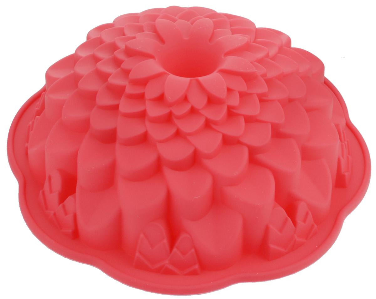 Форма для выпечки Marmiton Хризантема, цвет: красный, диаметр 21,5 см16045_красныйФигурная форма для выпечки Marmiton Хризантема будет отличным выбором для всех любителей бисквитов и кексов. Благодаря тому, что форма изготовлена из силикона, готовую выпечку или мармелад вынимать легко и просто.С такой формой вы всегда сможете порадовать своих близких оригинальной выпечкой. Материал устойчив к фруктовым кислотам, может быть использован в духовках, микроволновых печах и морозильных камерах (выдерживает температуру от +240°C до -50°C). Можно мыть и сушить в посудомоечной машине.Диаметр формы: 21,5 см.Высота формы: 7 см.