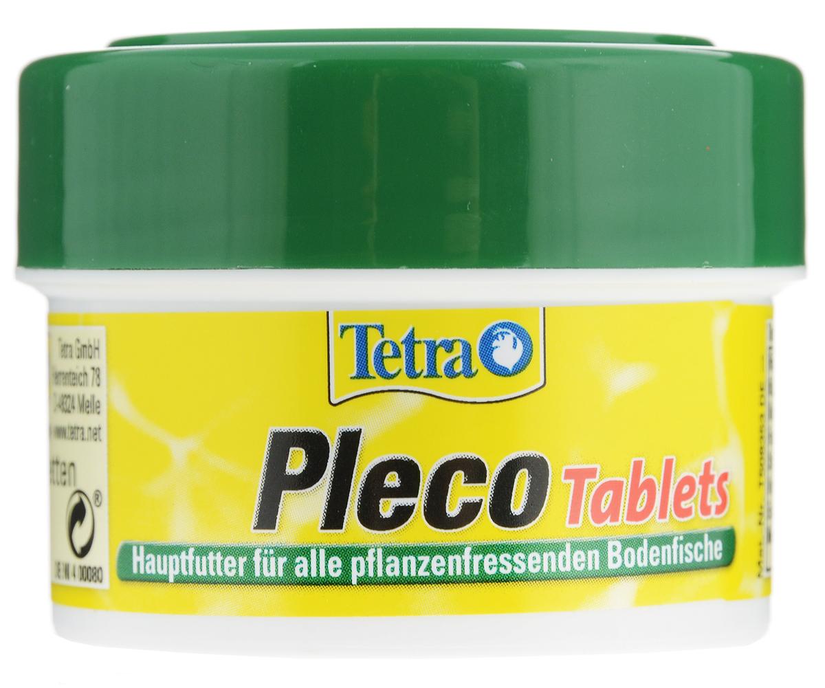 Корм Tetra Pleco Tablets со спирулиной, для сомов и донных рыб, 30 мл (18 г), 58 таблеток корм tetra tetramin xl flakes complete food for larger tropical fish крупные хлопья для больших тропических рыб 10л 769946