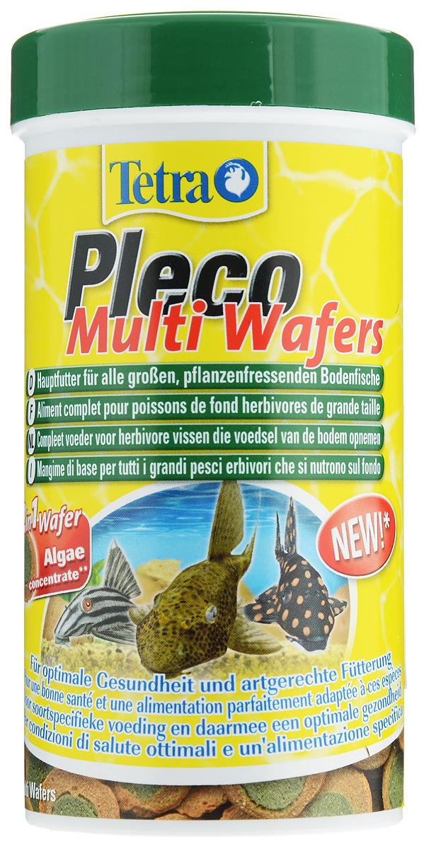 """Корм Tetra """"Pleco. Multi Wafers"""" для крупных травоядных донных рыб, пластинки, 250 мл (105 г)"""