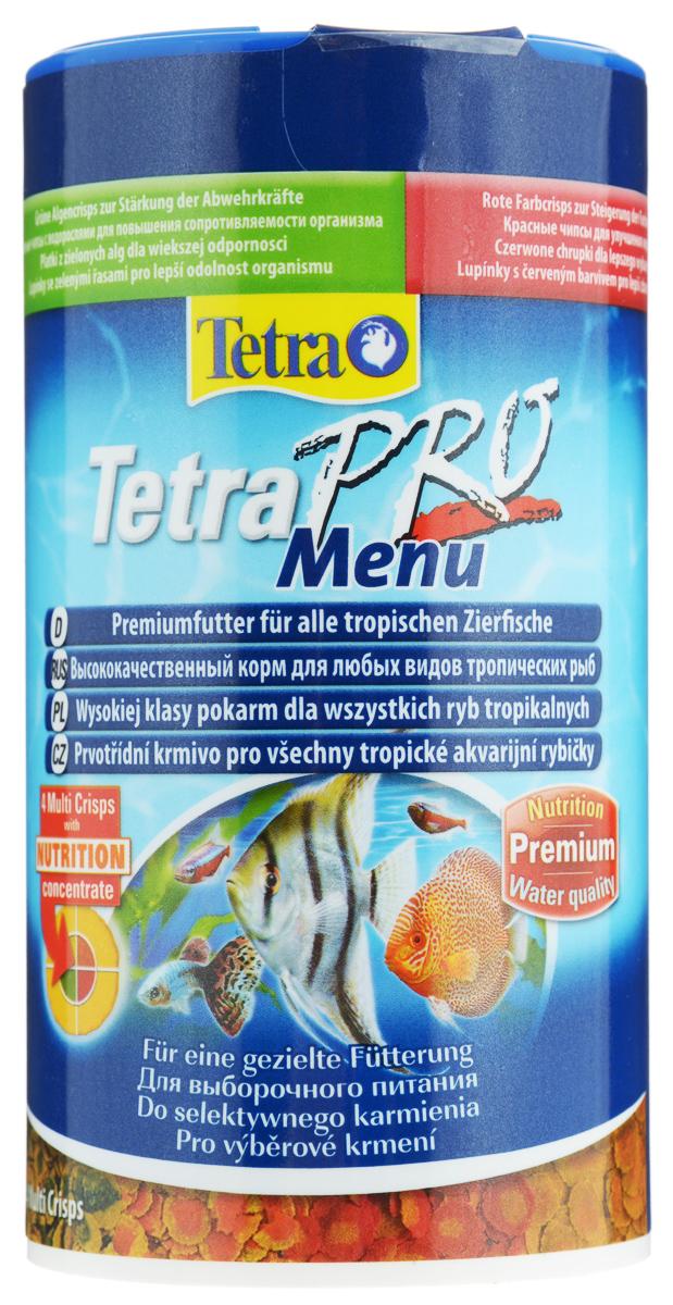Корм Tetra TetraPro. Menu для всех видов рыб, 4 вида хлопьев, 250 мл (64 г)197077Корм Tetra TetraPro. Menu - это высококачественный корм для любых видов тропических рыб. Он состоит из четырех различных видов чипсов, которые содержатся в отдельных секциях запатентованной упаковки. Таким образом, каждый аквариумист, поворачивая крышку, сможет разнообразно кормить своих рыбок сообразно их потребностям: чипсы со спирулиной заботятся о повышении сопротивляемости организма, желтые чипсы – о повышении жизненной силы, благодаря высококачественным жирным кислотам Омега-3. Красные чипсы усиливают сияющую окраску рыбок, а оранжевые способствуют здоровому росту.Ежедневное кормление помогает отрегулировать рост и жизнестойкость особей, а также повысить их плодовитость и энергию.Рекомендации по кормлению: кормить несколько раз в день маленькими порциями. Состав: рыба и побочные рыбные продукты, зерновые культуры, экстракты растительного белка, дрожжи, масла и жиры, моллюски и раки, водоросли, сахар, минеральные вещества.Аналитические компоненты: сырой белок - 46%, сырые масла и жиры - 12%, сырая клетчатка - 3%, содержание влаги - 8%.Товар сертифицирован.