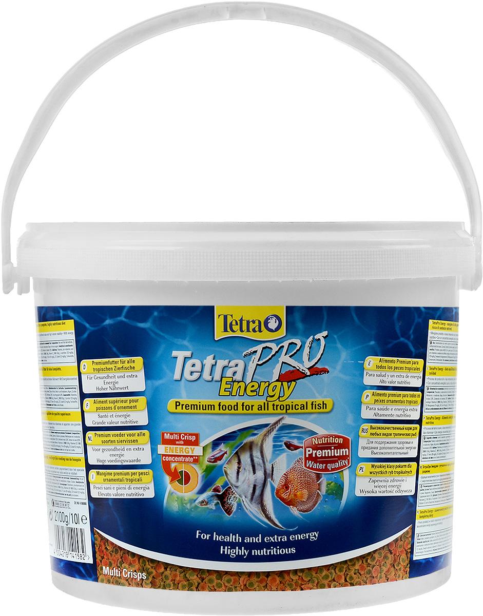 Корм Tetra TetraPro. Energy для всех видов тропических рыб, чипсы, 10 л (2,1 кг)141582Полноценный высококачественный корм Tetra TetraPro. Energy для всех видов тропических рыб разработан для поддержания здоровья и придания дополнительной энергии. Особенности Tetra TetraPro. Energy:- щадящая низкотемпературная технология изготовления обеспечивает высокую питательную ценность и стабильность витаминов;- энергетический концентрат для дополнительной энергии;- инновационная форма чипсов для минимального загрязнения воды отходами; - легкое кормление. Рекомендации по кормлению: кормить несколько раз в день маленькими порциями. Состав: рыба и побочные рыбные продукты, зерновые культуры, экстракты растительного белка, дрожжи, моллюски и раки, масла и жиры, водоросли, сахар.Аналитические компоненты: сырой белок - 46%, сырые масла и жиры - 12%, сырая клетчатка - 2,0%, влага - 9%.Добавки: витамины, провитамины и химические вещества с аналогичным воздействием: витамин А 29880 МЕ/кг, витамин Д3 1865 МЕ/кг, Л-карнитин 123 мг/кг. Комбинации элементов: Е5 Марганец 67 мг/кг, Е6 Цинк 40 мг/кг, Е1 Железо 26 мг/кг, Е3 Кобальт 0,6 мг/кг. Красители, консерванты, антиоксиданты. Товар сертифицирован.