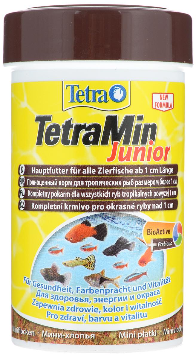 Корм для молоди рыб Tetra TetraMin Junior, мини-хлопья, 100 мл (30 г) корм tetra tetramin xl flakes complete food for larger tropical fish крупные хлопья для больших тропических рыб 10л 769946