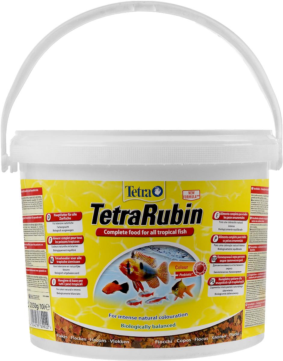Корм Tetra TetraRubin для улучшения окраса всех видов тропических рыб, 10 л (2,05 кг)769922Корм Tetra TetraRubin - биологически сбалансированный корм в виде хлопьев с натуральными добавками для усиления естественной окраски рыб. Высокое содержание усилителей естественного цвета и специальных ингредиентов обеспечивает красивый окрас для всех красных, оранжевых и желтых тропических рыб. Эффект усиления цвета заметен уже через две недели кормления. Корм содержит полноценный сбалансированный комплекс витаминов, питательных веществ и микроэлементов. Запатентованная БиоАктив-формула поддерживает работоспособность иммунной системы, обеспечивая высокую продолжительность жизни. Стабилизированный витамин С обеспечивает повышенную устойчивость организма рыбы к болезням, ускоряет рост и устраняет симптомы болезней, связанных с недоеданием. Кормить несколько раз в день небольшими порциями. Состав: рыба и побочные рыбные продукты, зерновые культуры, дрожжи, экстракты растительного белка, моллюски и раки, масла и жиры, сахар (олигофруктоза 0,9%), водоросли, минеральные вещества. Аналитические компоненты: сырой белок 46%, сырые масла и жиры 11%, сырая клетчатка 2%, влага 6%. Добавки: витамины, провитамины и химические вещества с аналогичным воздействием: витамин А 40820 МЕ/кг, витамин Д3 2320 МЕ/кг. Комбинации микроэлементов: Е5 марганец 78 мг/кг, Е6 цинк 46 мг/кг, Е1 железо 30 мг/кг. Красители, антиоксиданты. Товар сертифицирован.