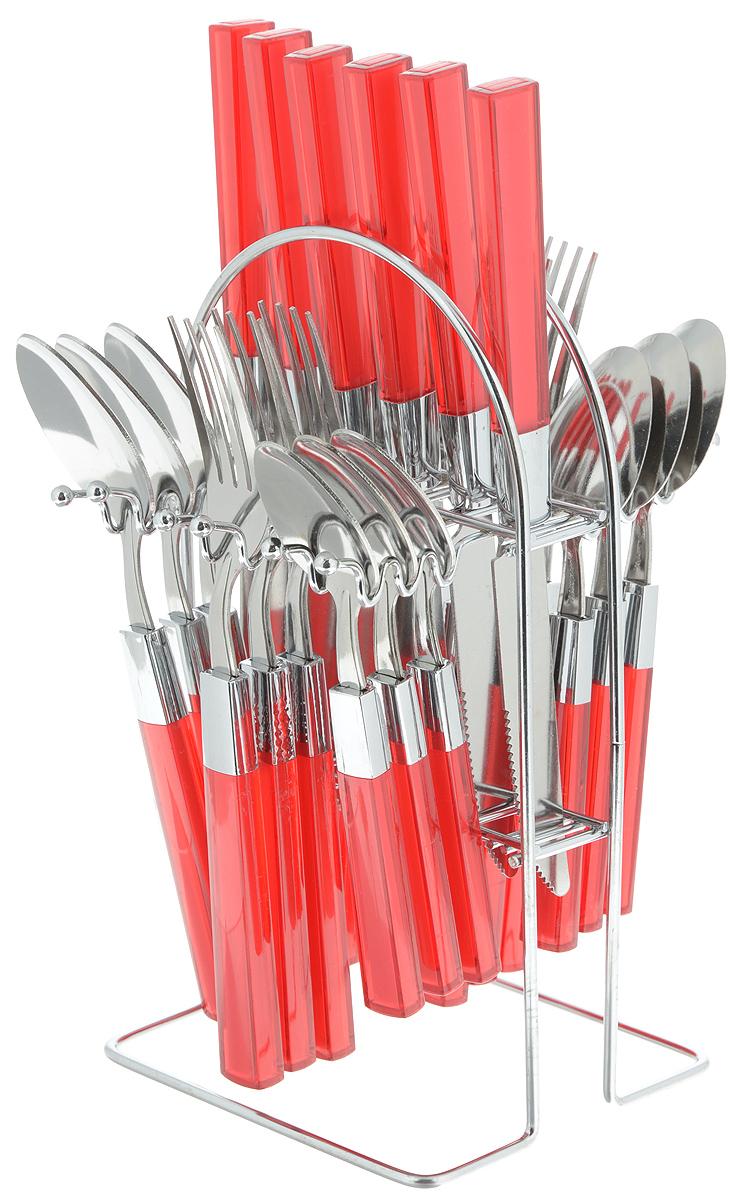 Набор столовых приборов Mayer&Boch, цвет: красный, стальной, 25 предметов. 20686-2 набор ножей 8 предметов mayer