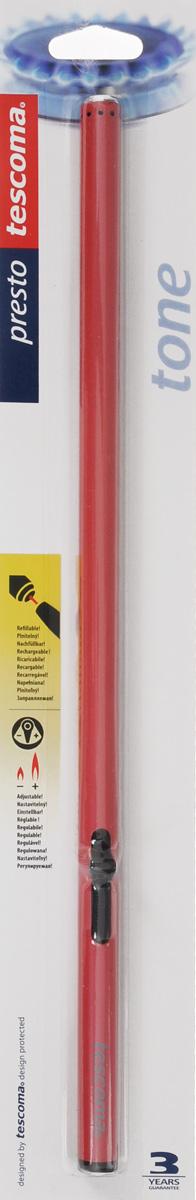 """Газовая зажигалка Tescoma """"Presto"""" станет незаменимым помощником не только на вашей кухне, но и на природе. Изделие выполнено из высококачественного металла и пластика. С ее помощью можно зажечь свечи, поджечь огонь в духовом шкафу, в газовой колонке, разжечь гриль и многое другое.Зажигалка многократно заправляется горючим газом. Очень удобна в использовании: просто приложите к газовой горелке, включенной на максимум, и нажмите кнопку зажигалки. На корпусе имеется регулятор величины пламени.Изделие уже заправлено газом.Длина зажигалки: 36 см."""