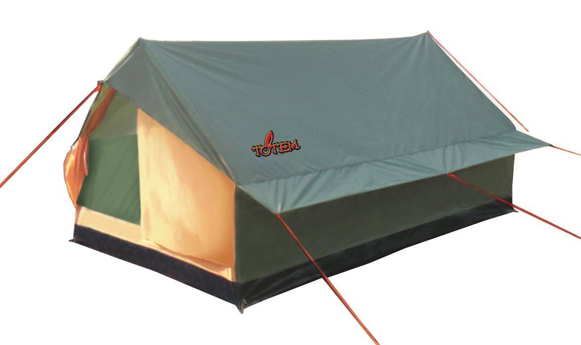 Палатка кемпинговая Тотеm Bluebird 2, цвет: зеленый. TTT-001.09TTT-001.09Однослойная палатка Тотеm идеальна для туристических походов в весеннее, летнее и осеннее время. Может пригодиться мотоциклистам и охотникам. Вход спального отделения продублирован москитной сеткой, имеется вентиляционный клапан. Все швы проклеены.Размер: 120 х 205 см. Количество мест: 2. Тент: полиэстер. Каркас: сталь 16 мм. Дно: армированный полиэтилен (терпаулинг). Количество входов: 1. Полный вес: 1,55 кг. Размер спального места: 200 х 130 см. Высота: 100 см.