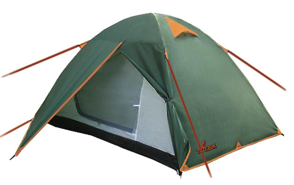 Палатка кемпинговая Тотеm Tepee 2, цвет: зеленый. TTT-003.09 палатка totem summer green ttt 002 09