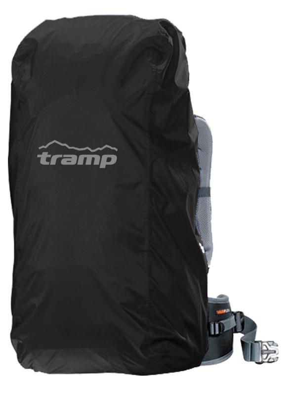 Накидка на рюкзак  Tramp , цвет: черный. 20-35 л, Размер S - Туристические рюкзаки