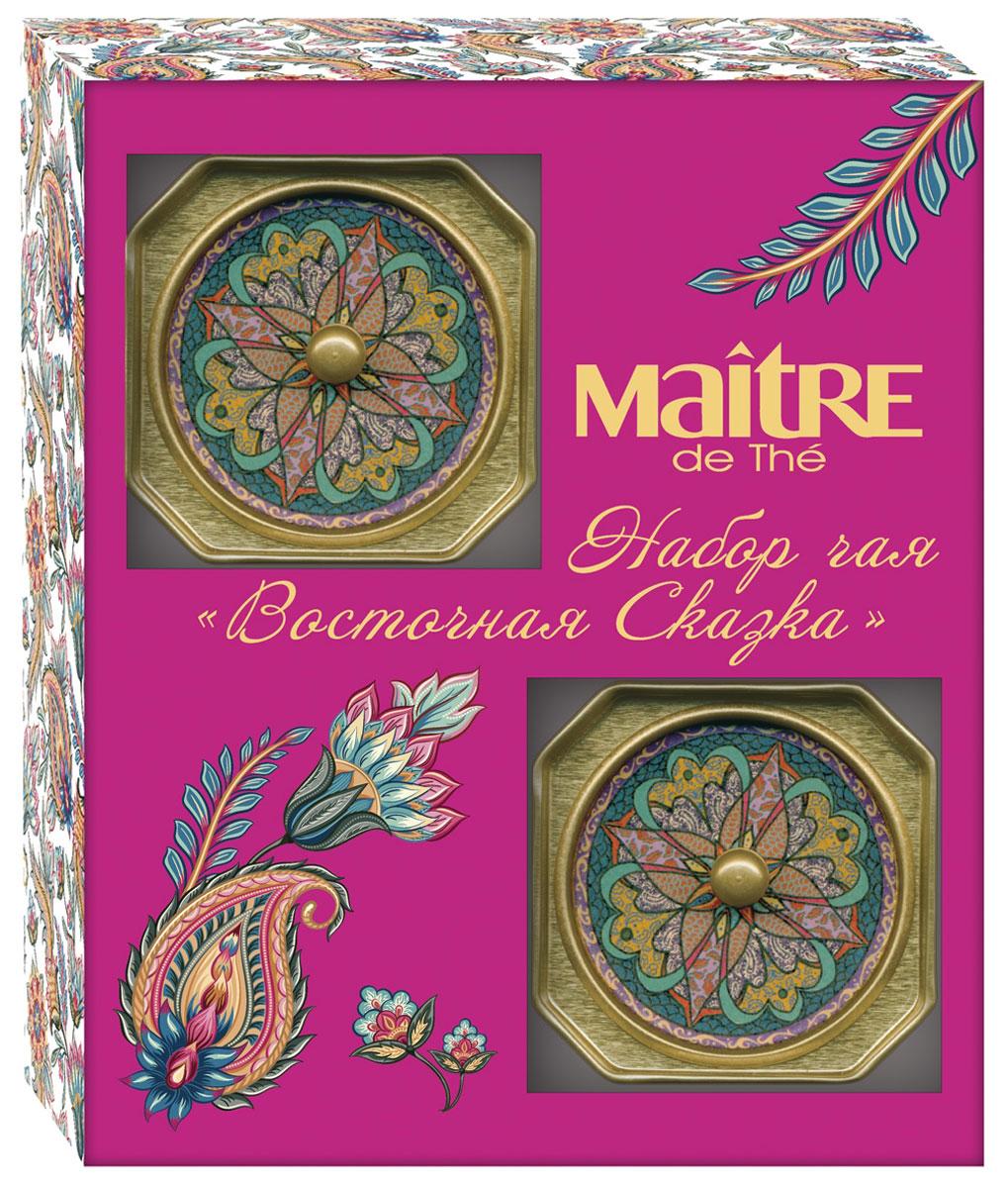 Maitre Восточная сказка набор черного листового чая, 60 г цена и фото