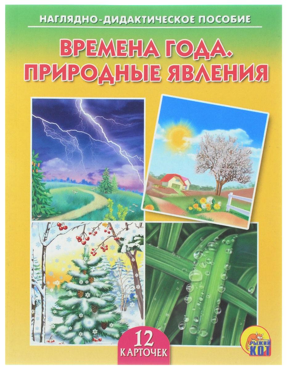 Рыжий Кот Обучающие карточки Времена года Природные явления улыбка обучающие карточки игрушки