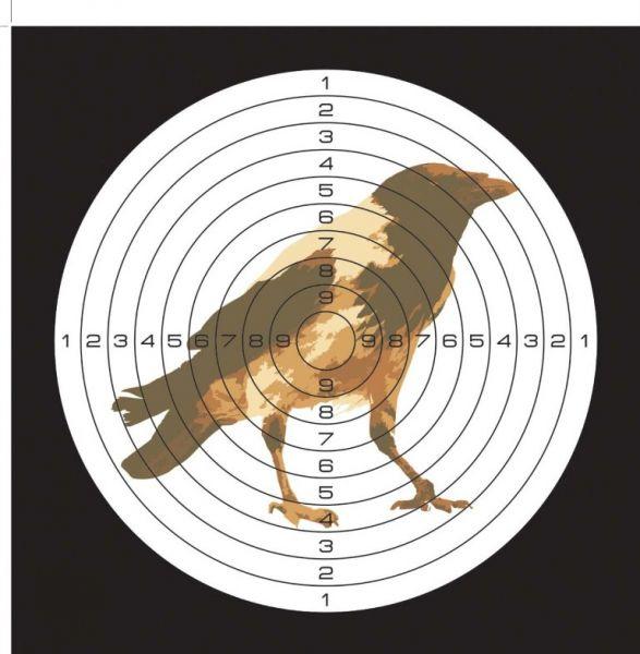 Мишень для пневматики 25м, рисунок Ворона. 25ЦВВ25ЦВВМишень для пневматики 25м, рисунок Ворона. Мишень с рисунком Ворона предназначена для тренировок и стрельбы из пневматического оружия. В центре круга - цветное изображение вороны. В упаковке 50 шт.Характеристики:- материал: картон 280 г/м- размер мишени: 140х140 мм- вес упаковки: 255 г- размер упаковки: 140х140х18 мм- в наборе 50 мишеней