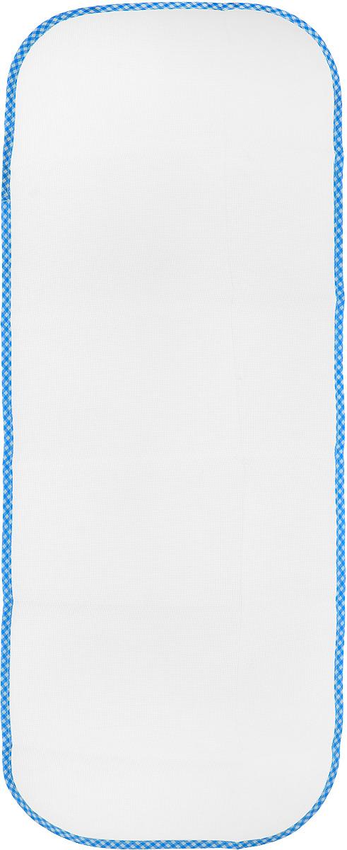Сетка для глажения Хозяюшка Мила Silk & Wool, цвет: голубой, белый, 35 х 90 см47002_голубая клеткаСетка для глажения Хозяюшка Мила Silk & Woolвыполнена из 100% лавсана. Изделие подходит дляодежды из шелка, шерсти и трикотажа. Прекраснаясовременная альтернатива марлевой тряпочке,которую использовали наши мамы и бабушки.Аккуратная сетка с оптимальным размером плетениястанет незаменимым помощником при глажке белья.Сетка защитит белье от прижигания, исключитконтакт горячего утюга с тканью, позволит быстро ировно сделать стрелки на брюках. Размер сетки: 35 х 90 см.
