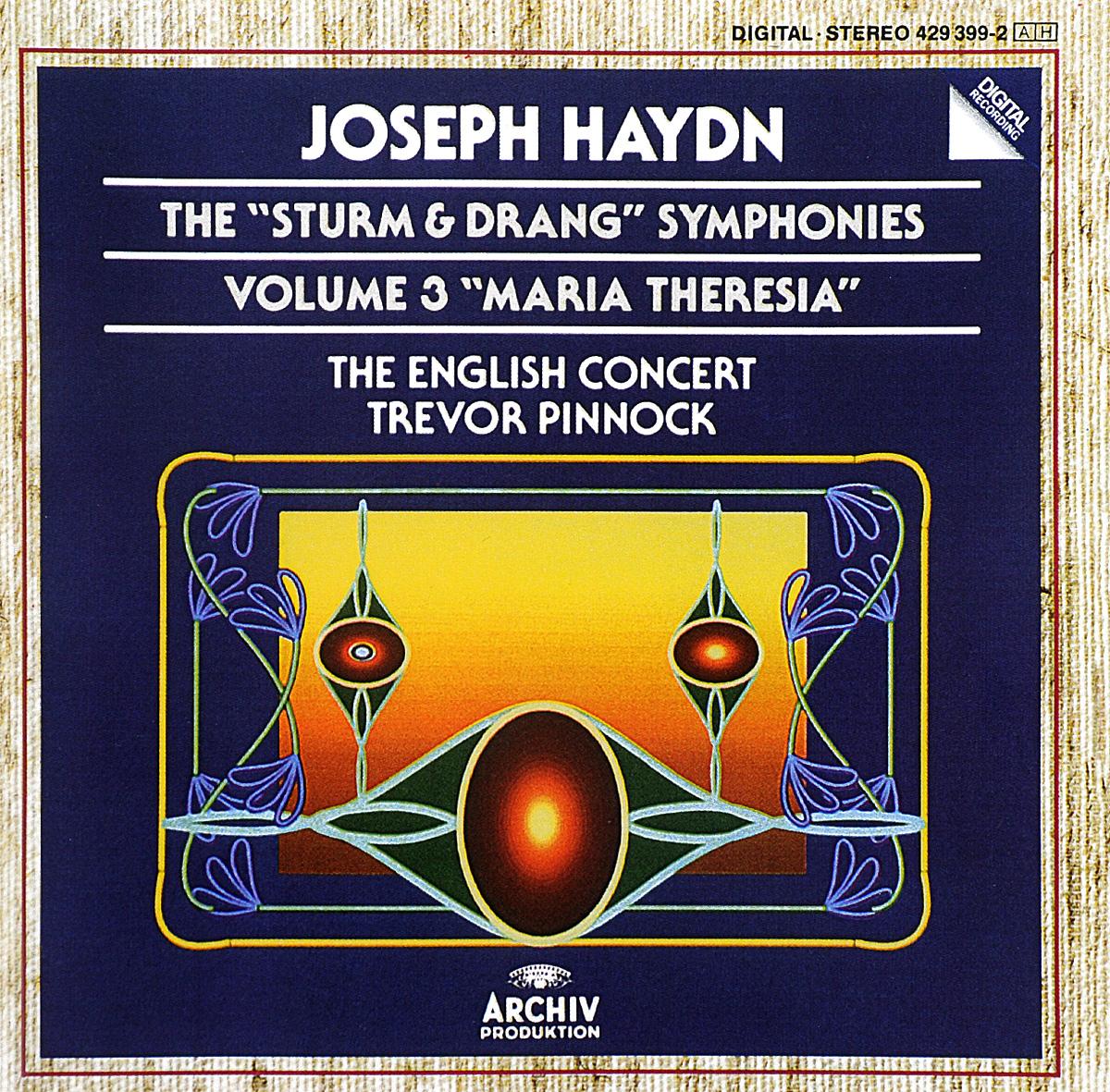 "The English Concert,Тревор Пиннок Trevor Pinnock. Joseph Haydn. The Sturm & Drang Symphonies. Volume 3. ""Maria Theresia"""