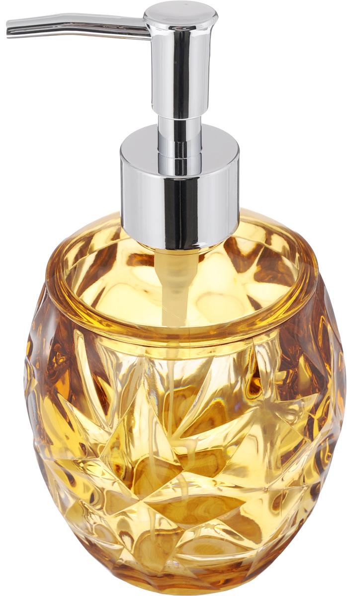 Диспенсер для жидкого мыла Fresh Code Узорный, цвет: светло-коричневый, 360 мл64537_светло-коричневыйДиспенсер для жидкого мыла Fresh Code Узорный изготовлен из акрила в эффектной резной форме. Стенки прозрачные, что очень удобно для определения оставшегося мыла. Носик изделия выполнен из прочного ABS-пластика с хромированным покрытием. Диспенсер очень удобен в использовании: просто надавите сверху, и из диспенсера выльется необходимое количество мыла. Аксессуары для ванной комнаты Fresh Code стильно украсят интерьер и добавят в обычную обстановку яркие и модные акценты. Нейтральный цвет подойдет к любому интерьеру.