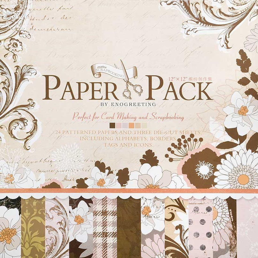 Набор бумаги для скрапбукинга Белоснежка  Винтажные узоры , 30,5 x 30,5 см, 24 листа -  Бумага и картон