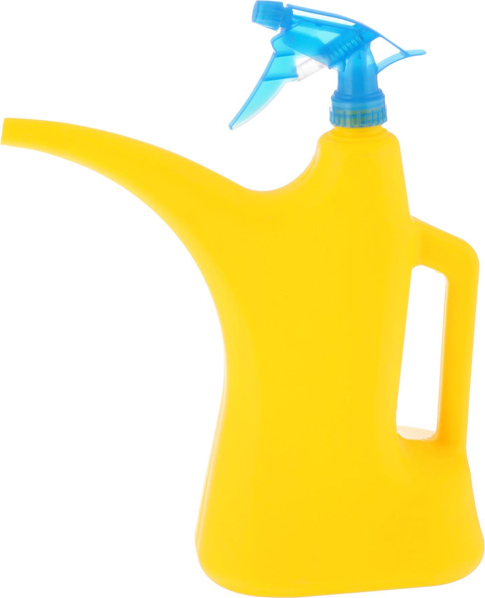 Лейка-распылитель Альтернатива, цвет: желтый, синий, 2 лM276_желтый,синийЛейка-распылитель Альтернатива предназначена для полива насаждений на приусадебном участке или комнатных растений дома. Она выполнена из пластика и имеет небольшую массу, что позволяет экономить силы при поливе. Удобство в использовании также обеспечивается за счет эргономичной ручки лейки. Изделие снабжено пульверизатором для удобного опрыскивания листьев.
