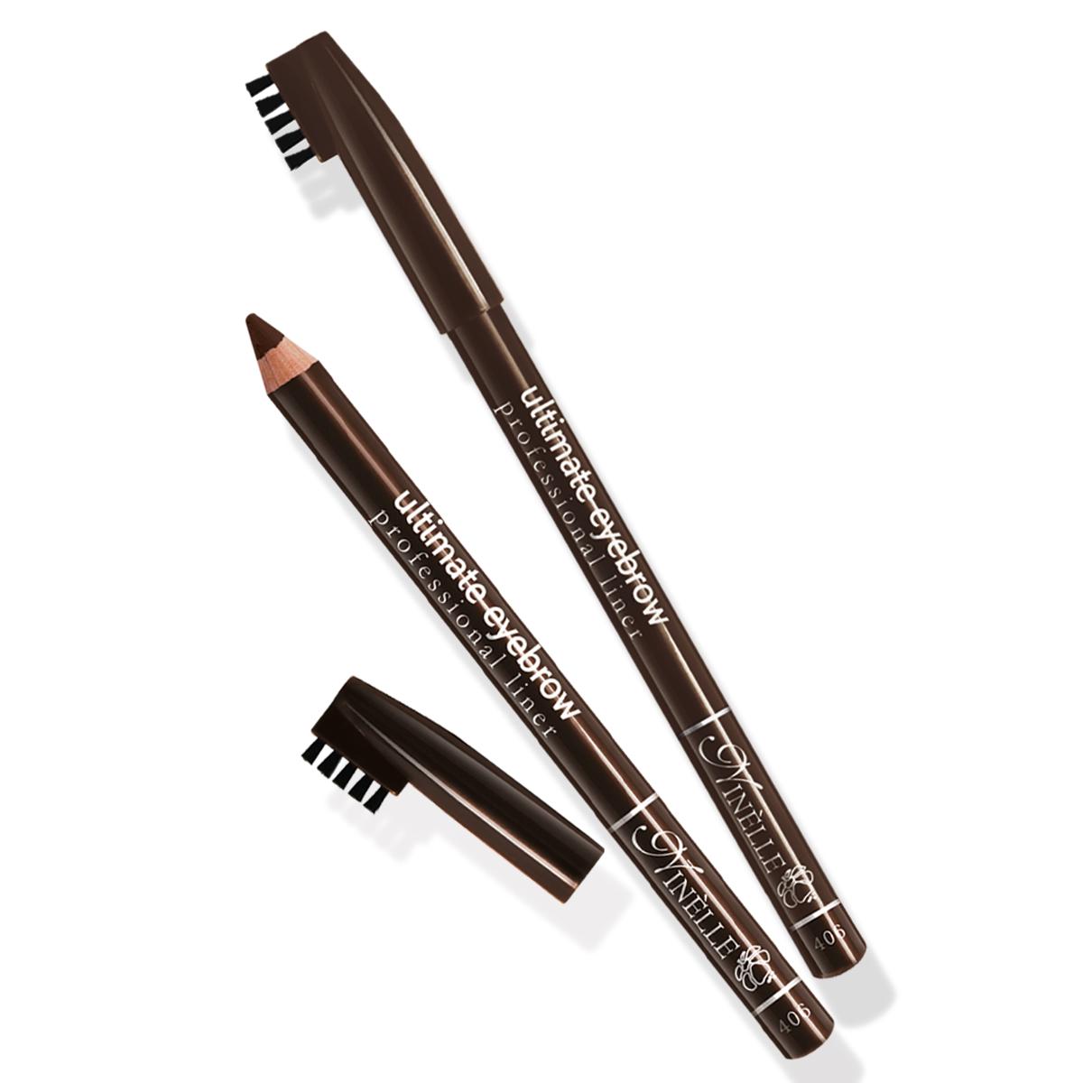 Ninelle Карандаш для бровей Ultimate №406, 1,5 г косметические карандаши ninelle карандаш для бровей ultimate 406