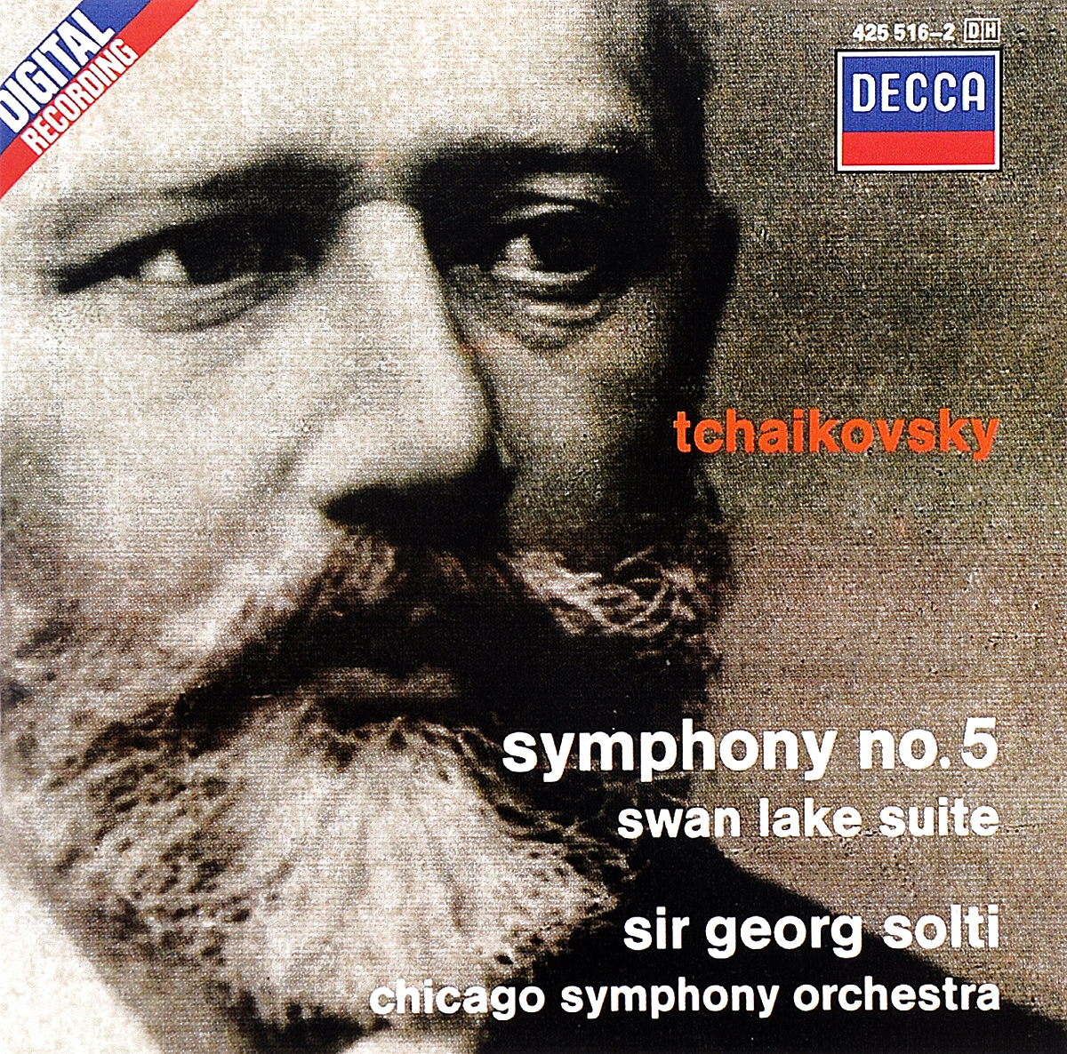 Chicago Symphony Orchestra,Георг Шолти,Рубен Гонсалес,Джон Шарп,Edward Druzinsky Sir Georg Solti. Tchaikovsky. Symphony No. 5 / Swan Lake Suite