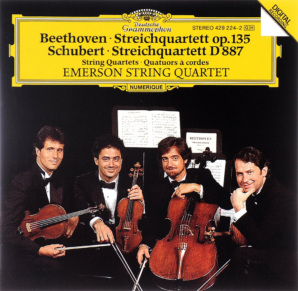 Emerson String Quartet Emerson String Quartet. Beethoven. Streichquartett Op. 135 / Schubert. Streichquartett D 887 антонин дворжак antonin dvorak vlach quartet string quartet in g major op 106 lp