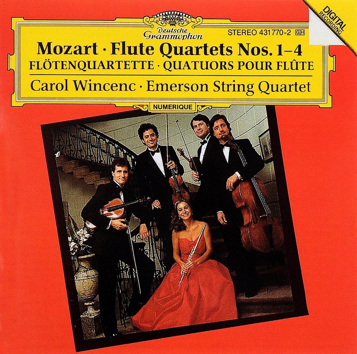 Carol Wincenc,Emerson String Quartet Carol Wincenc. Mozart. Flute Quartets Nos. 1-4 emerson string quartet complete string quartets mendelssohn emerson string quartet 4 cd