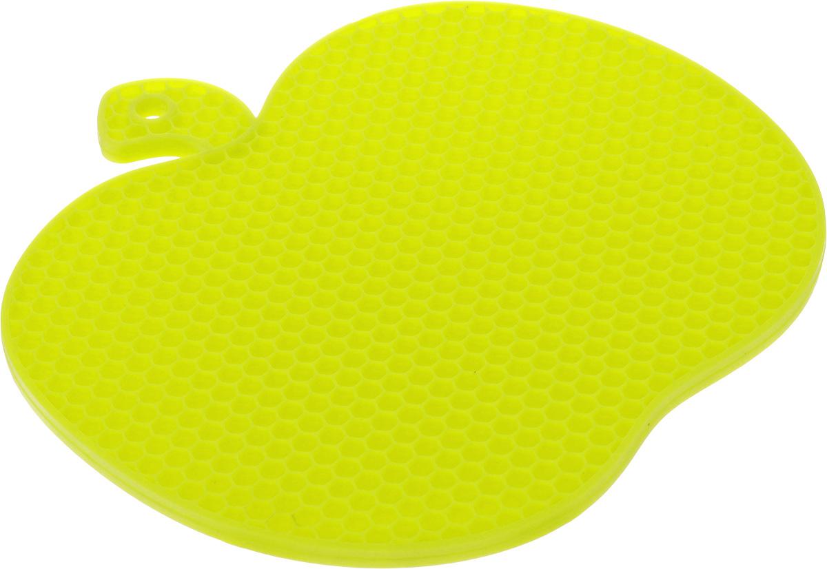 Подставка под горячее Marmiton Яблоко, силиконовая, цвет: салатовый, 19 х 18 см12134_салатовыйПодставка под горячее Marmiton Яблоко изготовлена из силикона, что позволяет ей выдерживать высокие температуры и не царапать поверхность стола. Силикон устойчив к фруктовым кислотам, обладает естественным антипригарным свойством. Выдерживает температуру от -40°С до +240°С.Такая подставка придется по вкусу человеку, ценящему практичные и оригинальные вещи. Можно мыть в посудомоечной машине.