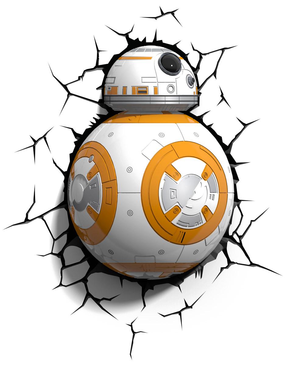 Star Wars Пробивной 3D светильник Дроид BB-850021Пробивной 3D светильник Star Wars Дроид BB-8 обязательно понравится вашему ребенку.Особенности: Безопасный: без проводов, работает от батареек (3хАА, не входят в комплект);Не нагревается: всегда можно дотронуться до изделия;Реалистичный: 3D наклейка-имитация трещины в комплекте;Фантастический: выглядит превосходно в любое время суток;Удобный: простая установка (автоматическое выключение через полчаса непрерывной работы).Товар предназначен для детей старше 3 лет. ВНИМАНИЕ! Содержит мелкие детали, использовать под непосредственным наблюдением взрослых.
