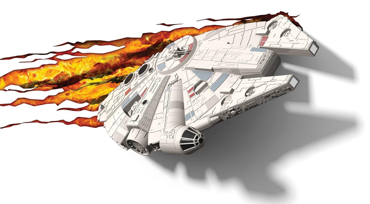 Star Wars Пробивной 3D светильник Тысячелетний сокол minions пробивной 3d мини светильник боб