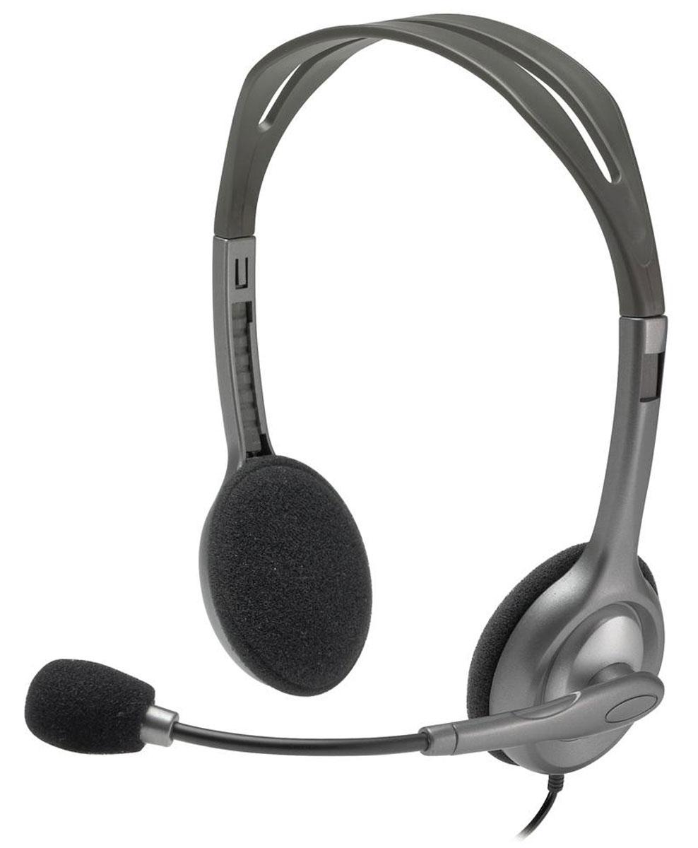Logitech H111 Stereo гарнитура - Офисные гарнитуры