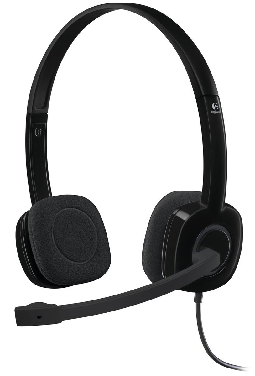 Logitech H151 Stereo, Black гарнитура - Офисные гарнитуры
