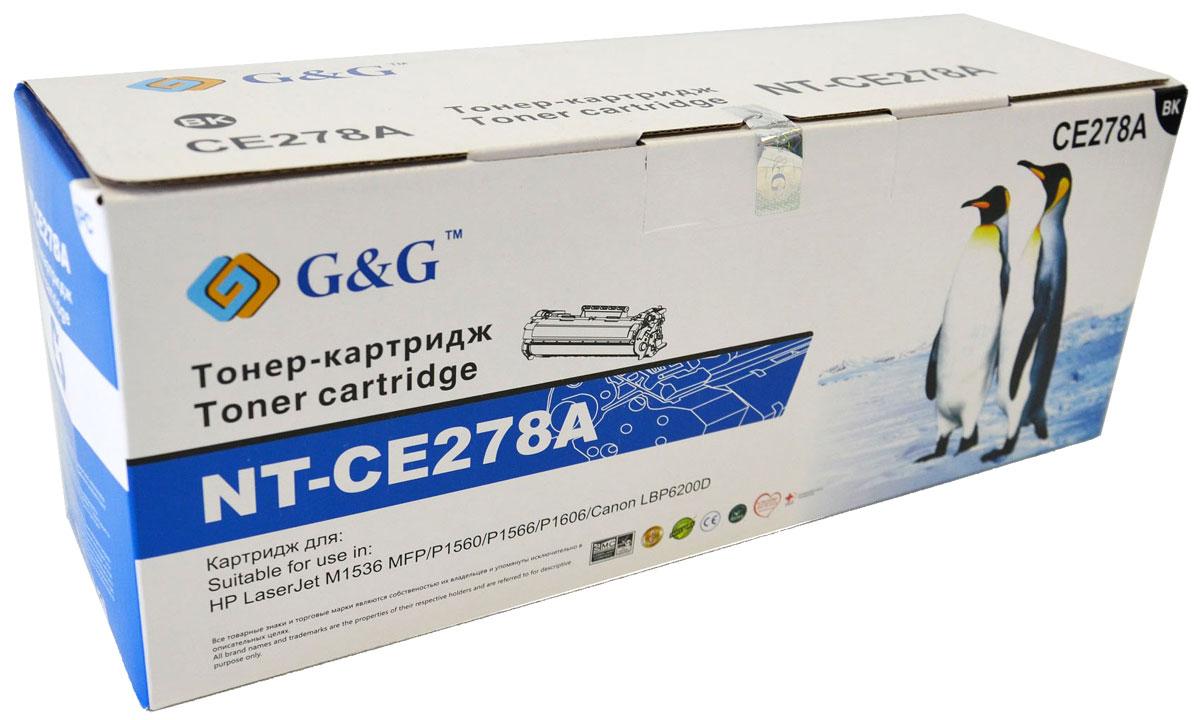 G&G NT-CE278A тонер-картридж для НР LaserJet P1560/1566/1606 M1536/Canon LBP-6200