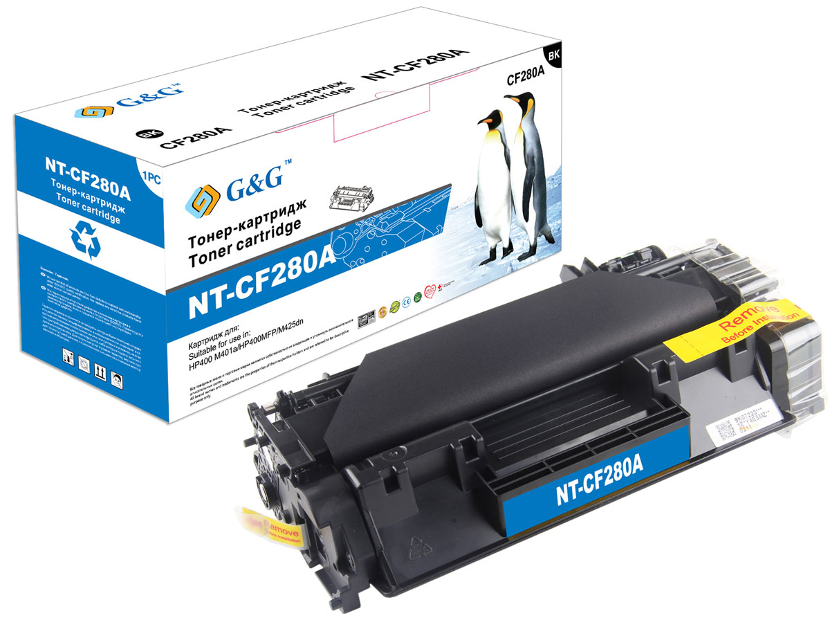 G&G NT-CF280A тонер-картридж для HP LaserJet Pro400 M401/M425 картридж colouring cg cf280x для hp laserjet pro 400 m401 425 6900стр