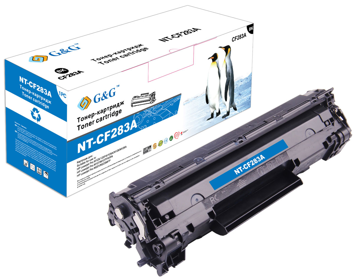G&G NT-CF283A тонер-картридж для HP LaserJet Pro M125/M127/M201/M225 for hp 283 cf283a toner powder and chip for hp laserjet pro mfp m125 m127fn m127fw laser printer free shipping hot sale