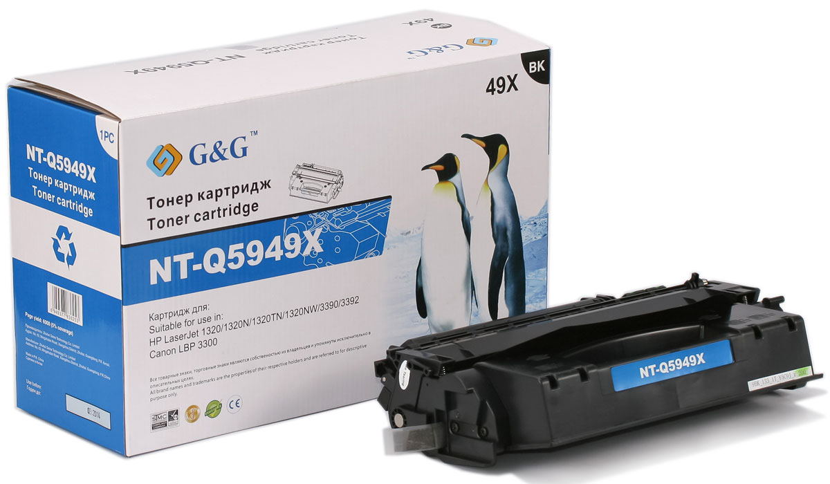 G&G NT-Q5949X тонер-картридж для HP LaserJet 1160/1320/3390/3392/Canon LBP-3300/3360 compatible new rl1 0540 000 rl1 0540 tray 2 paper pickup roller for hp 1160 1320 3390 3392 2727 2014 2015 lbp3300 3310 3360 3370