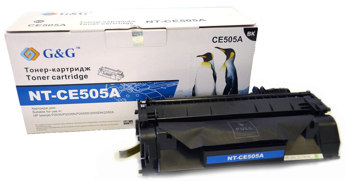 G&G NT-CE505A тонер-картридж для HP LaserJet P2035/P2035n/P2055d/P2055dn/P2055xNT-CE505AКартридж G&G NT-CE505A для лазерных принтеров HP LaserJet P2035/P2035n/P2055d/P2055dn/P2055x.Расходные материалы G&G для лазерной печати максимизируют характеристики принтера. Обеспечивают повышенную чёткость чёрного текста и плавность переходов оттенков серого цвета и полутонов, позволяют отображать мельчайшие детали изображения. Обеспечивают надежное качество печати.