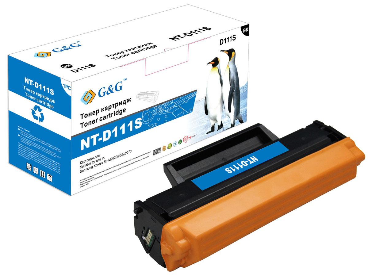 G&G NT-D111S тонер-картридж для Samsung SL-M2020/2022/2070NT-D111SТонер-картридж G&G NT-D111S для лазерных принтеров Samsung SL-M2020/2022/2070.Расходные материалы G&G для лазерной печати максимизируют характеристики принтера. Обеспечивают повышенную чёткость чёрного текста и плавность переходов оттенков серого цвета и полутонов, позволяют отображать мельчайшие детали изображения. Обеспечивают надежное качество печати.