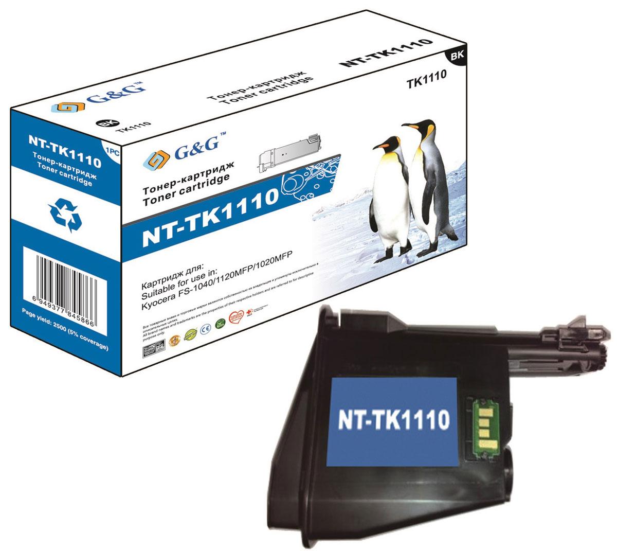 G&G NT-TK1110 тонер-картридж для Kyocera FS-1040/1020MFP/1120MFPNT-TK1110Тонер-картридж G&G NT-TK1110 для лазерных принтеров Kyocera FS-1040/1020MFP/1120MFP.Расходные материалы G&G для лазерной печати максимизируют характеристики принтера. Обеспечивают повышенную чёткость чёрного текста и плавность переходов оттенков серого цвета и полутонов, позволяют отображать мельчайшие детали изображения. Обеспечивают надежное качество печати.