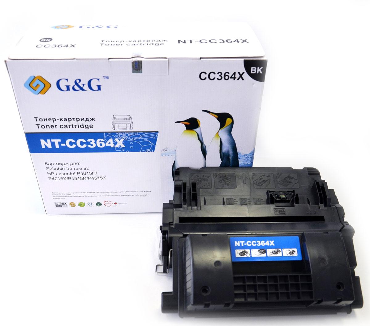 G&G NT-CC364X тонер-картридж для HP laserJet P4015N/P4015X/P4515N/P4515XNT-CC364XКартридж G&G NT-CC364X для лазерных принтеров HP LaserJet P4015N/P4015X/P4515N/P4515X.Расходные материалы G&G для лазерной печати максимизируют характеристики принтера. Обеспечивают повышенную чёткость чёрного текста и плавность переходов оттенков серого цвета и полутонов, позволяют отображать мельчайшие детали изображения. Обеспечивают надежное качество печати.