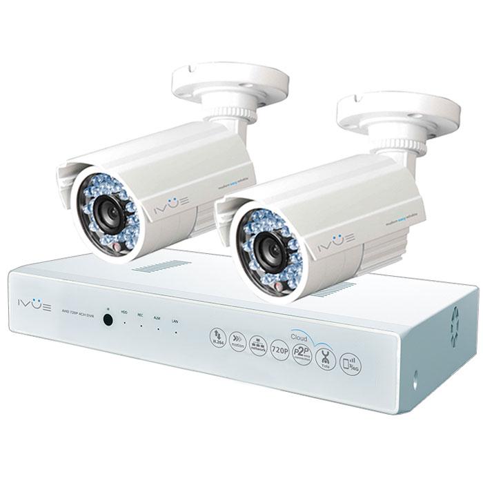 iVue D5004 AHC-B2 Дача 4+2 комплект видеонаблюденияIVUE-D5004 AHC-B2Комплект видеонаблюдения iVue D5004 AHC-B2 Дача 4+2 - это профессиональный набор систем охранного видеонаблюдения за вашим бизнесом, домом, дачей и т.д. Комплект включает в себя видеорегистратор AHD и 2 внешние всепогодные видеокамеры с разрешением сенсора 1 Мпикс,.AHD - самая современная технология кодирования и передачи видеоизображения по коаксиальному кабелю. Она позволяет передавать изображение с разрешением до 2 Мпикс на расстояние до 500 метров без потери качества изображения.Вы можете наблюдать за вашей собственностью из любой точки мира через интернет с помощью компьютера, планшета или смартфона. Простота подключения обеспечивается облачной технологией P2P. У вас так же есть возможность дополнить этот набор одной или двумя камерами по вашему выбору.Жесткий диск для этого набора приобретается отдельно и может иметь размер до 4 ТБ, что позволит вам поддерживать архив до 2-х месяцев без потери качества изображения. Набор укомплектован наклейкой Внимание! Ведется видеонаблюдение, что позволит предупредить многие правонарушения заблаговременно.Режимы записи: ручная/по расписанию/по движениюWAN RJ45 разъём: 10/100 Мбит/сОС: LinuxСтепень защиты корпуса IP66
