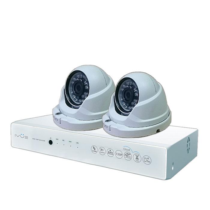 iVue D5004 AHC-D2 Для Дома и Офиса 4+2 комплект видеонаблюденияIVUE-D5004 AHC-D2Комплект видеонаблюдения iVue D5004 AHC-D2 Для Дома и Офиса 4+2 - это профессиональный набор систем охранного видеонаблюдения за вашим бизнесом, домом, дачей и т.д. Комплект включает в себя видеорегистратор AHD и 2 внутренние видеокамеры с разрешением сенсора 1 Мпикс, которые прекрасно подойдут к интерьеру любого помещения.AHD - самая современная технология кодирования и передачи видеоизображения по коаксиальному кабелю. Она позволяет передавать изображение с разрешением до 2 Мпикс на расстояние до 500 метров без потери качества изображения.Вы можете наблюдать за вашей собственностью из любой точки мира через интернет с помощью компьютера, планшета или смартфона. Простота подключения обеспечивается облачной технологией P2P. У вас так же есть возможность дополнить этот набор одной или двумя камерами по вашему выбору.Жесткий диск для этого набора приобретается отдельно и может иметь размер до 4 ТБ, что позволит вам поддерживать архив до 2-х месяцев без потери качества изображения. Набор укомплектован наклейкой Внимание! Ведется видеонаблюдение, что позволит предупредить многие правонарушения заблаговременно.Режимы записи: ручная/по расписанию/по движениюWAN RJ45 разъём: 10/100 Мбит/сОС: Linux